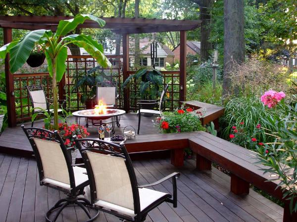 deck bench designs