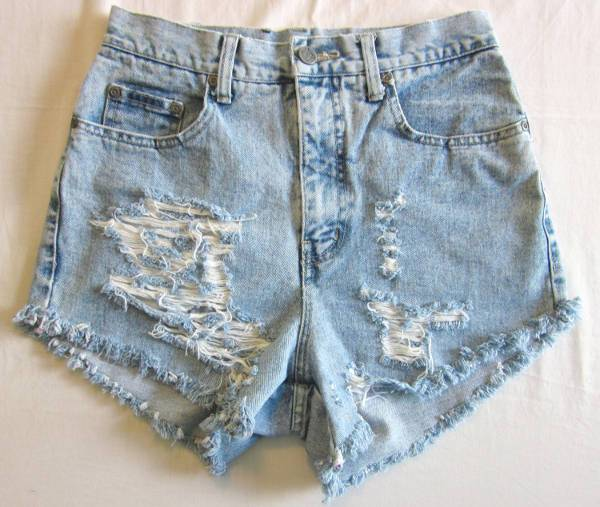 Denim Cut Up Short for Women