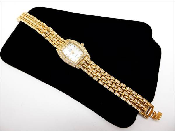 designer gold tone watch for women