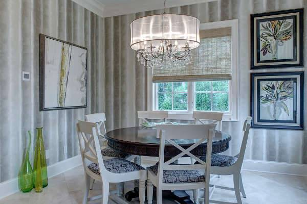 Dining Room Drum Glass Chandelier Design