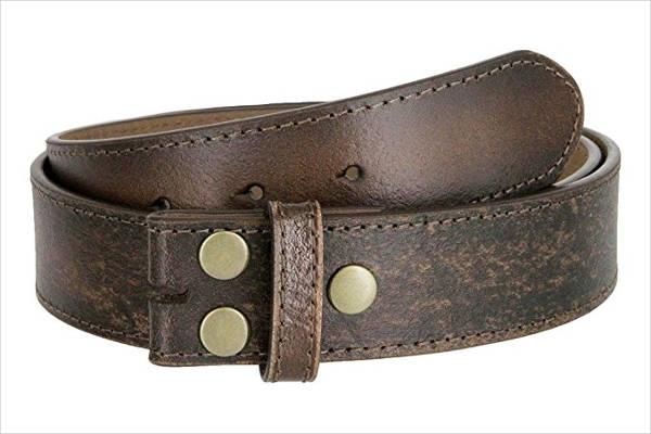 Distressed Buckle Belt for Men