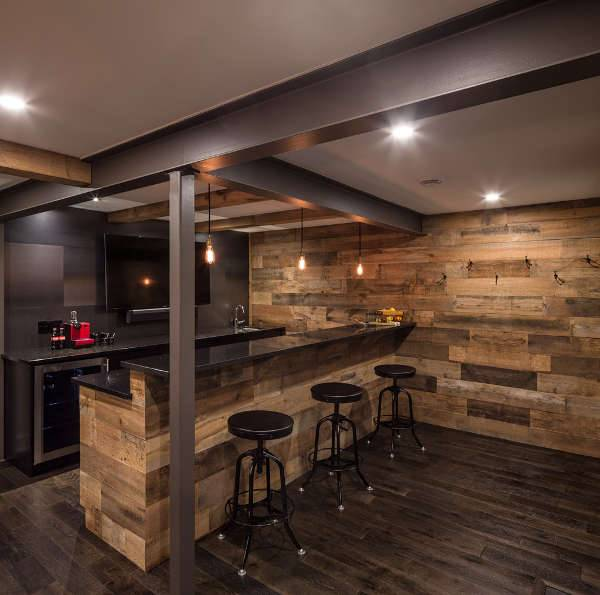 Contemporary Home Bar Design Ideas: 12+ Basement Bar Designs, Ideas