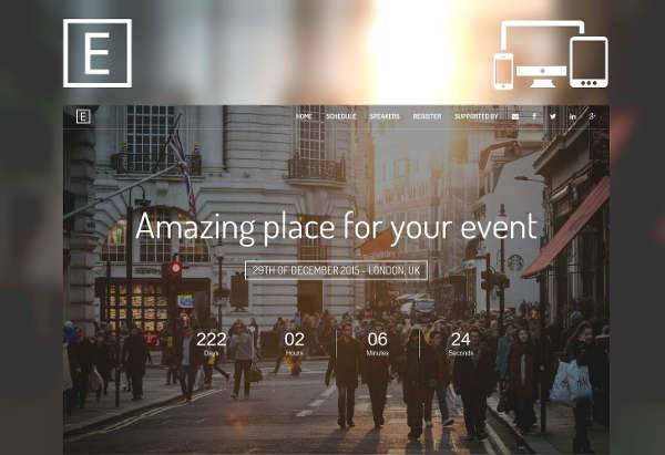 Event Landing Page Design