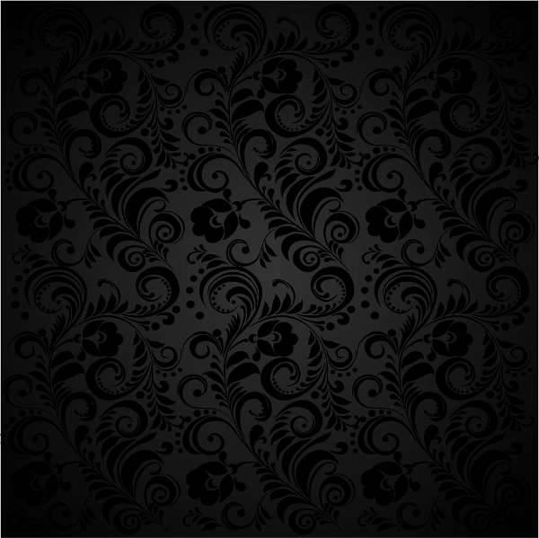 floral black background designs