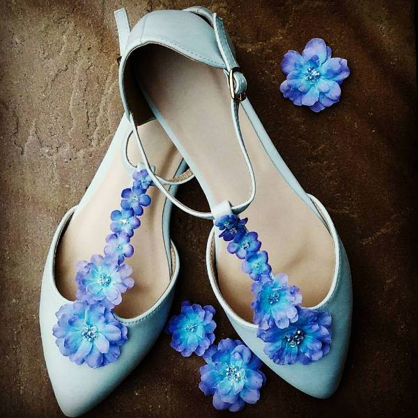 Floral Wedding Shoes Idea