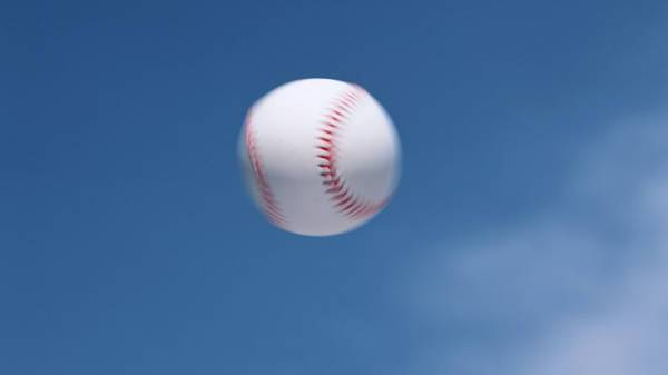 Flying Baseball Picture