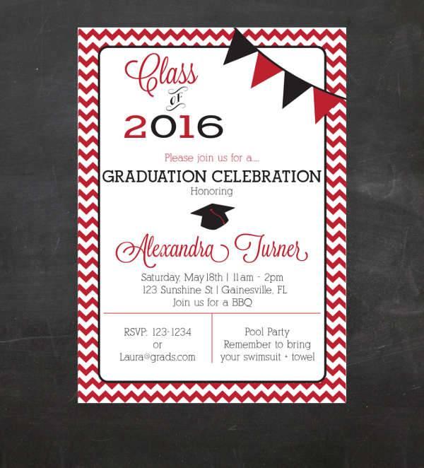 Formal Graduation Invitation Design