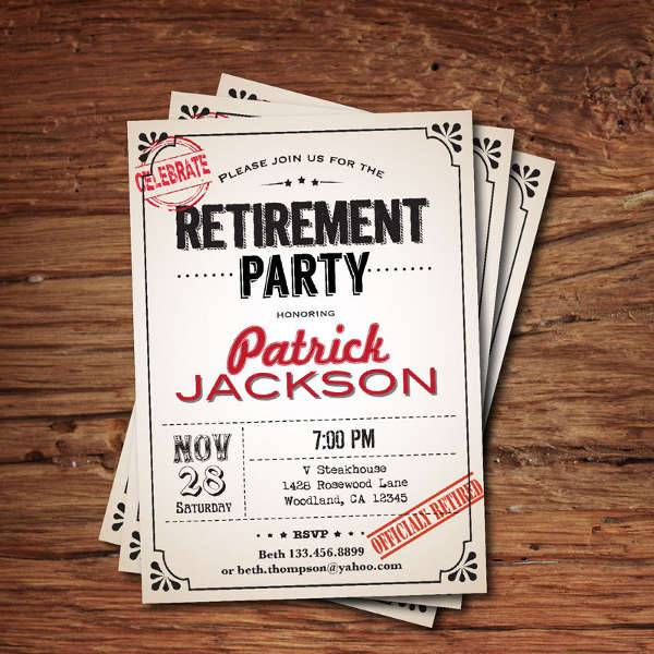 Formal Retirement Invitation