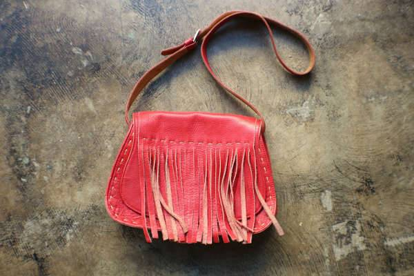 Fringe Leather Western Handbag