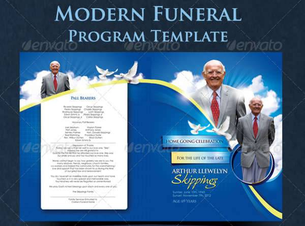 Funeral Announcement Flyer