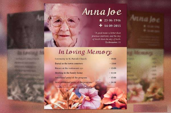 Funeral Plan Flyer Template