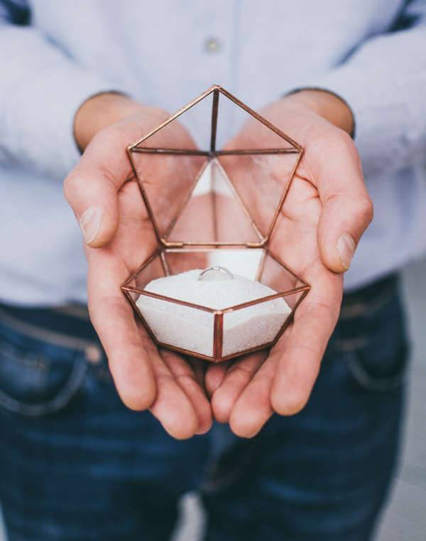 geometric engagement ring box