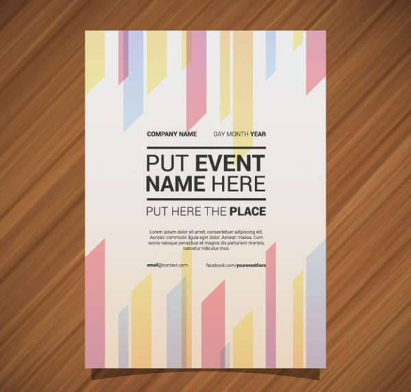 Geometric Lines Event Poster Design
