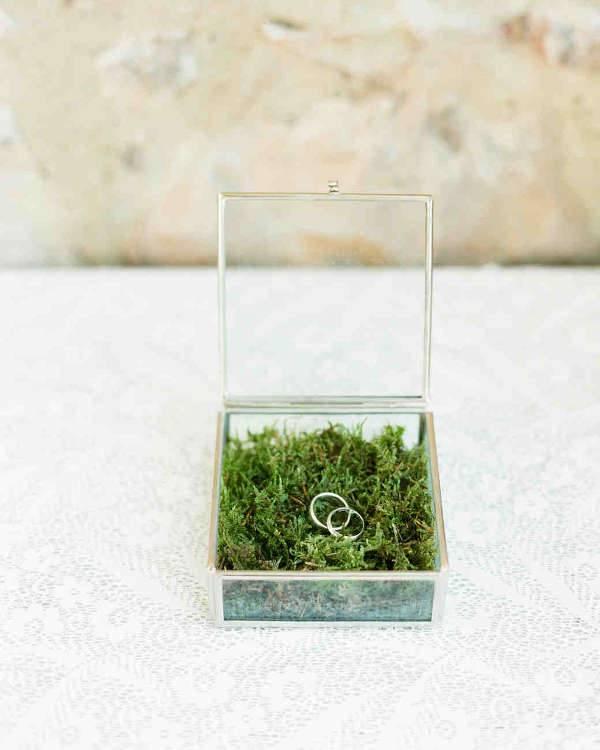 Glass Engagement Ring Box