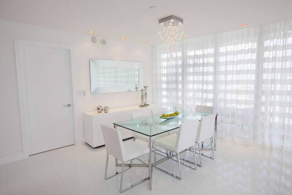 gloss white dining table