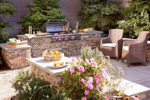 Granite Outdoor Kitchen Island