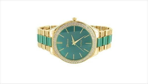 Green and Gold Watch Design for Women