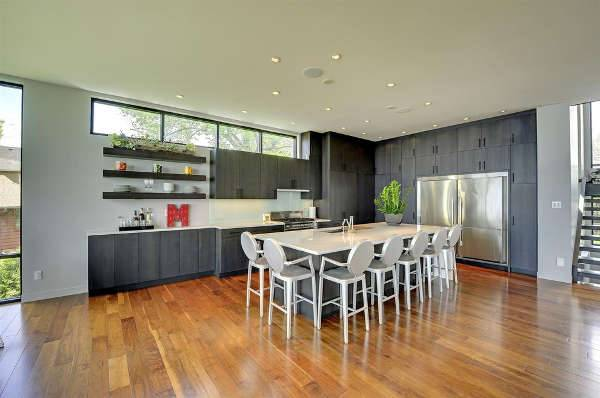 grey modern kitchen cabinets