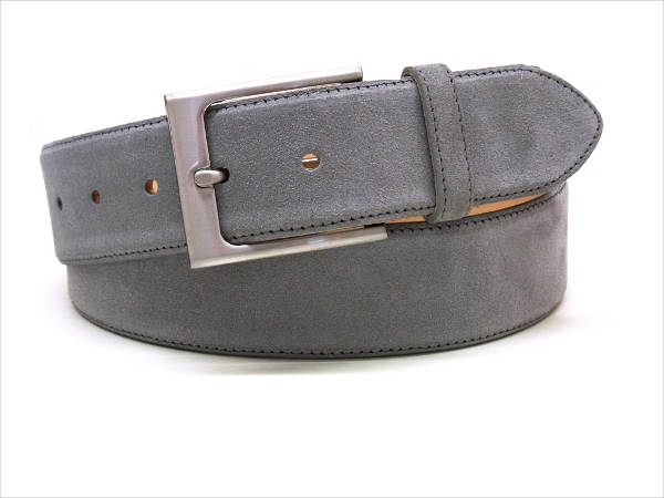 Grey Suede Belt for Men