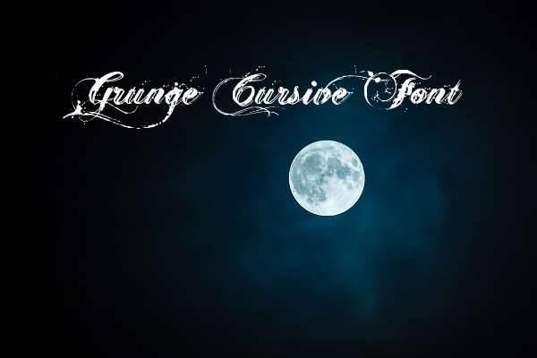 grunge cursive font