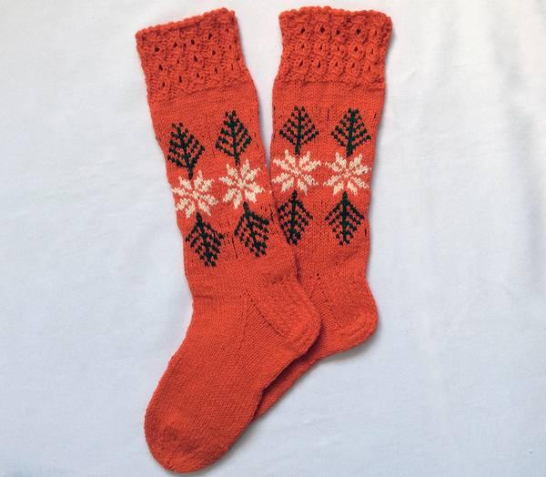Hand Knitted Ski Socks for Women