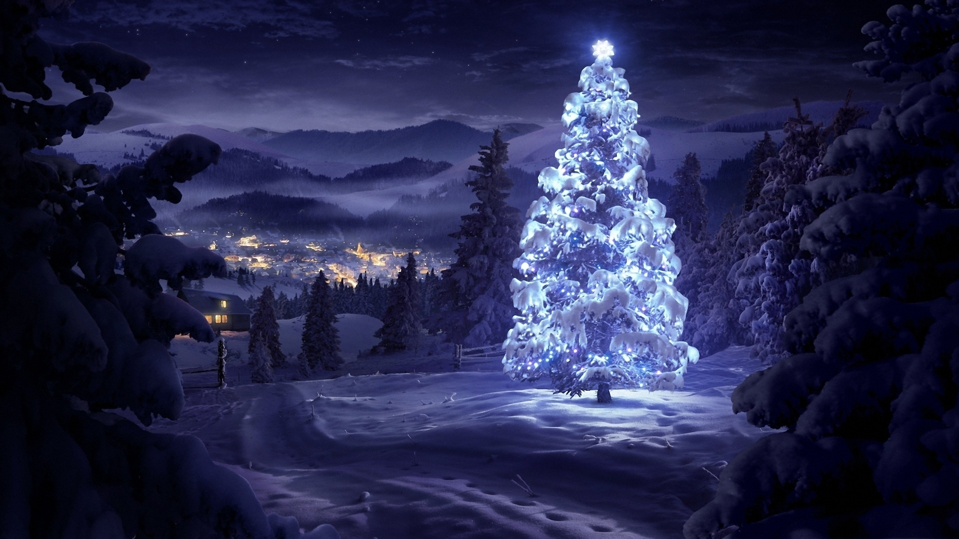 holiday christmas tree wallpaper hq