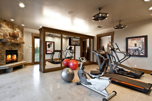 home gym fan designs