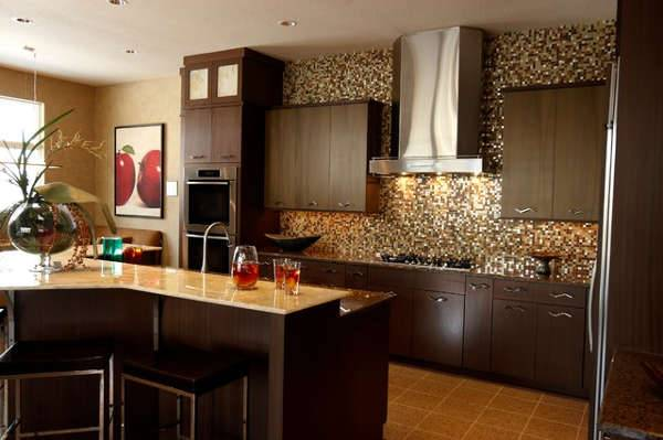 honed travertine kitchen design
