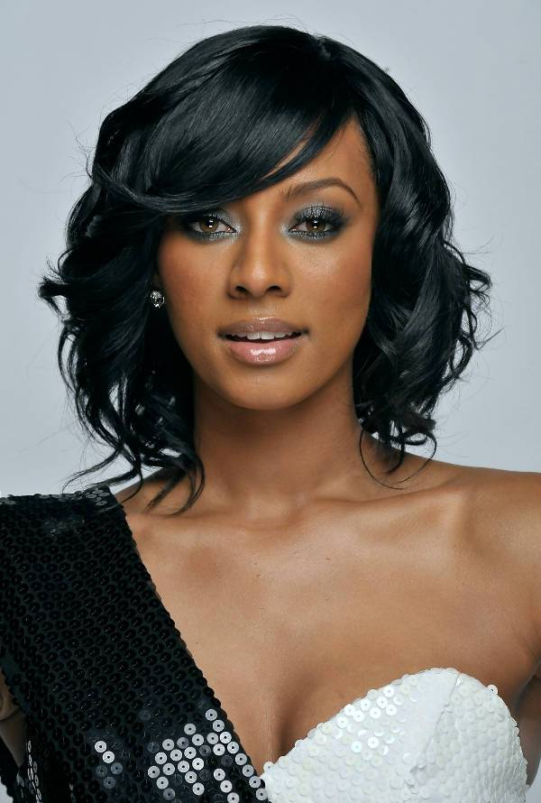 Keri Hilson Short Bob Haircuts For Black Women
