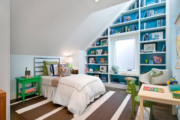 kids bedroom bookcase design