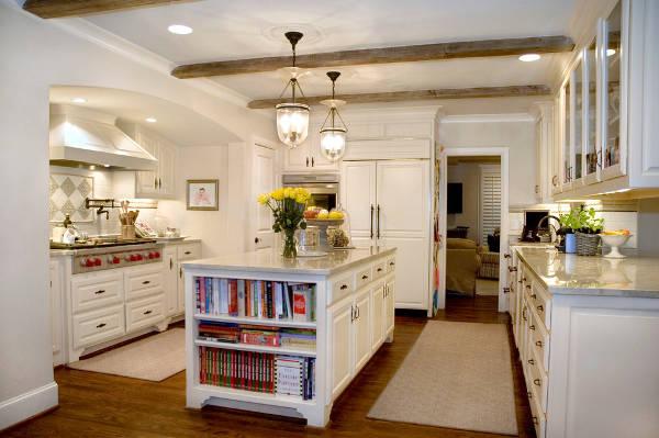 kitchen island bookcase idea