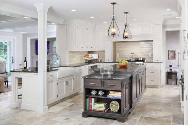 kitchen travertine mosaic idea