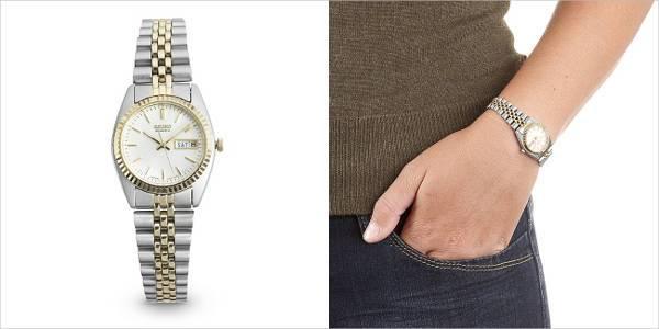 ladies seiko functional two tone watch
