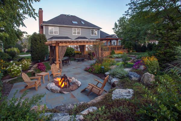 landscape fire pit designs