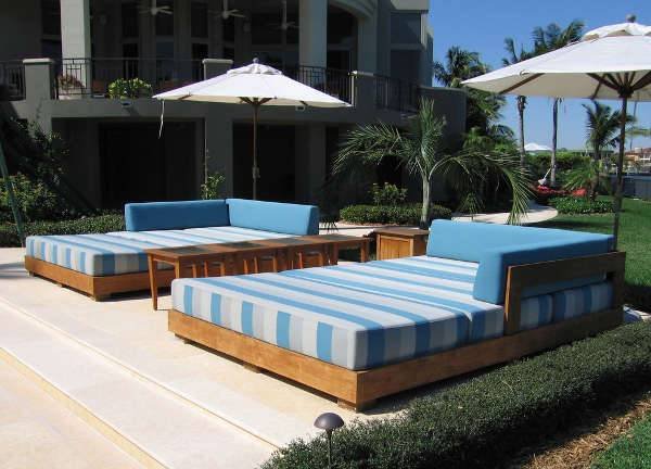 Large Outdoor Double Chaise Lounge