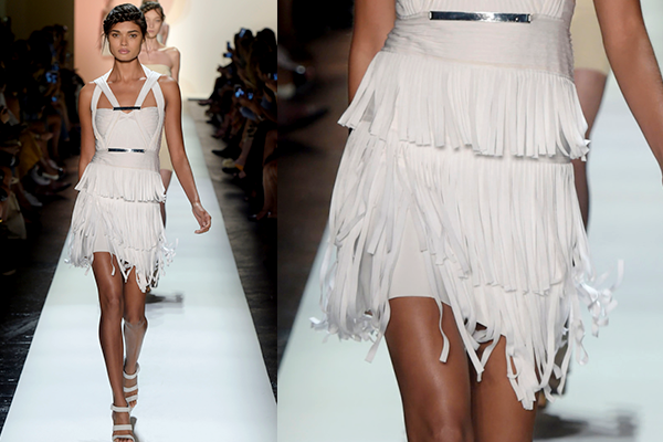 leather fringing
