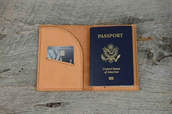 Leather Travel Wallet for Men