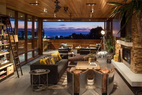 Living Room Floor Lighting Idea
