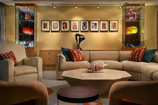 living room wall light design