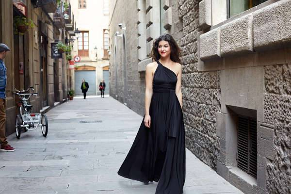 long maxi wrap dress