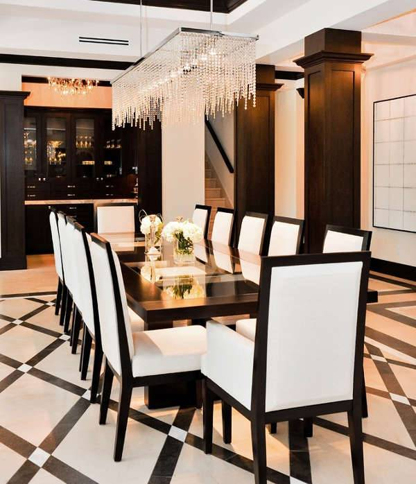 luxery rectangle dining room chandelier