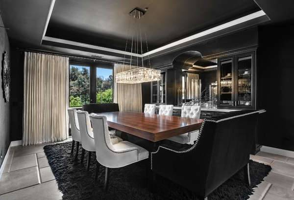 luxurious masculine dining hall