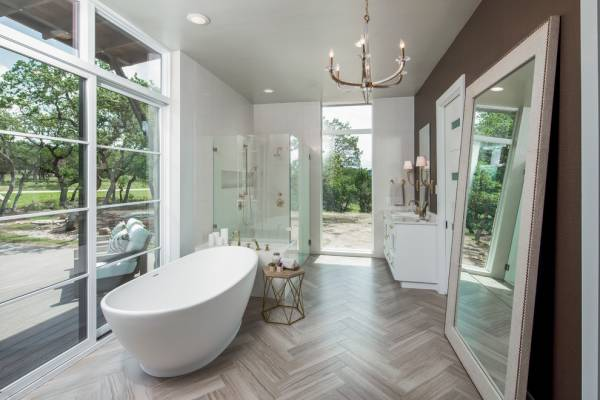 Luxury Bathroom Floor Mirror