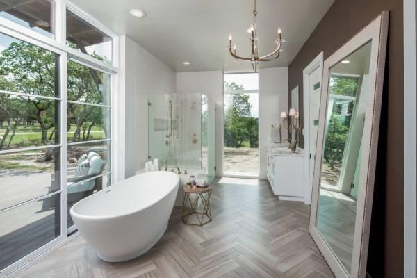 luxury bathroom floor mirror