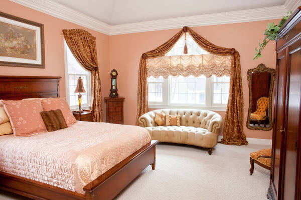 luxury bedroom window treatment