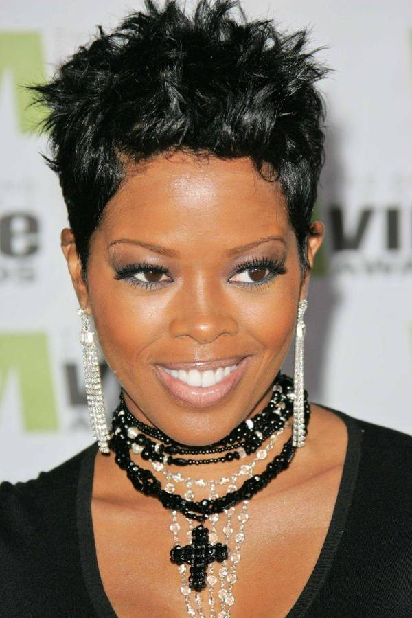 Malinda Williams Short Spikey Hairstyles For Black Women