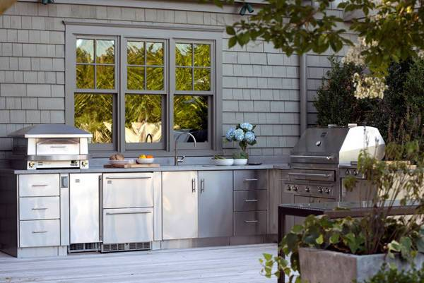 Marble Stone Outdoor Kitchen Cabinets