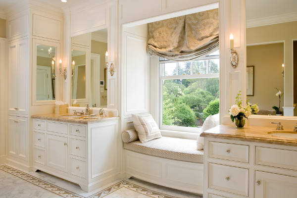 master bathroom window treatment
