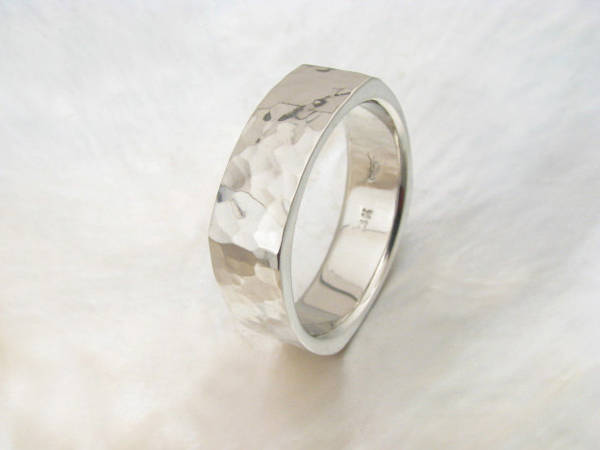 Men's Square Wedding Band Ring