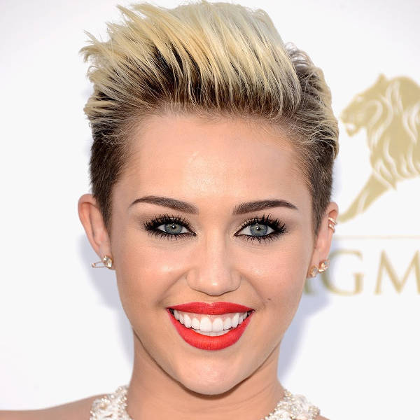 Miley Cyrus Women's Short Punk Hairstyle